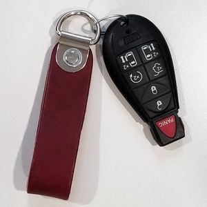New! Thick Leather Strap Key Chain